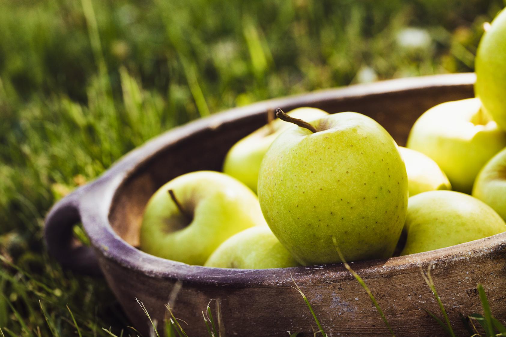 manzanas-amarillas-en-fuente-de-barro-cocido-materia-natural-propia-de-hogar-sostenible-o-ecologico
