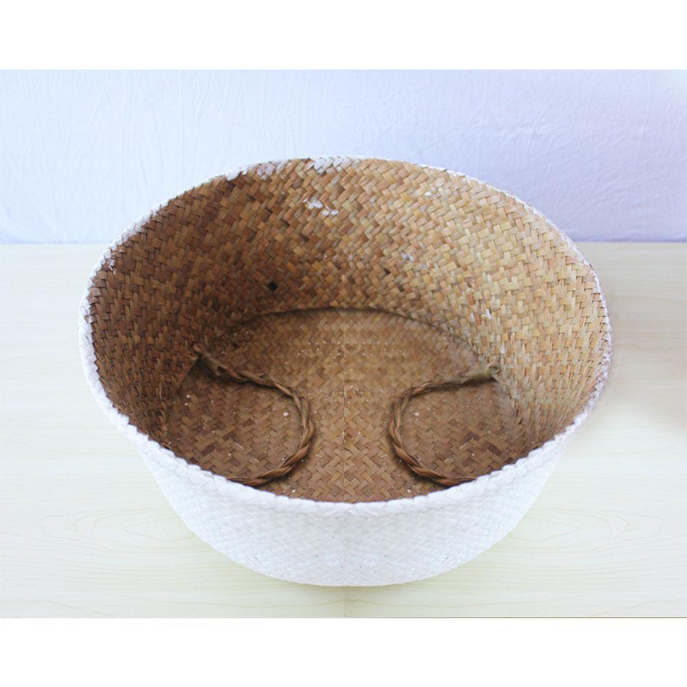 IBICENCA Pequeña cesta blanca para plantas 1