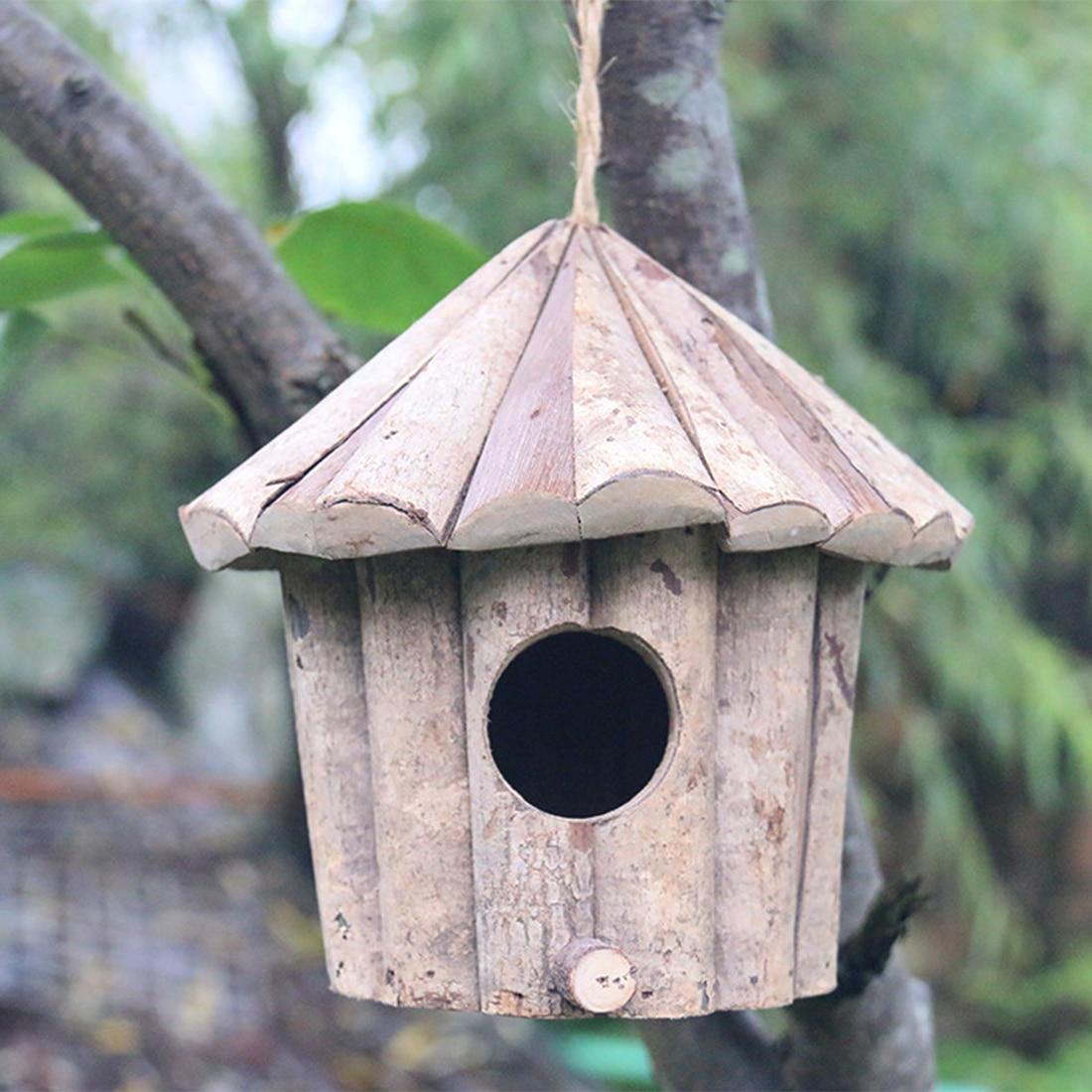 PIU Casa colgante para pájaros de madera